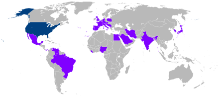 Countries visited by Carter during his presidency US President Jimmy Carter Presidential Trips.PNG
