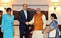 US Secretary of State John Kerry and US Secretary of Commerce Penny Pritzker meet PM Modi.jpg