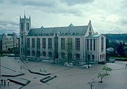 UW Administration Building from Odegaard Library in 1984.jpg