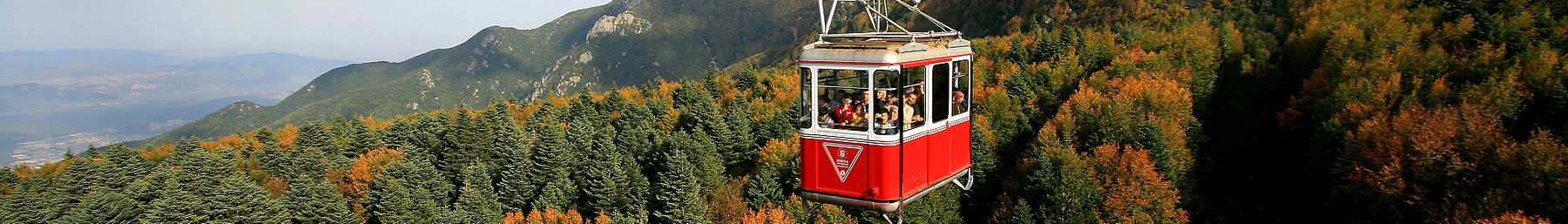 Cable car going up to Uludağ