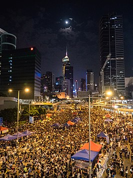 Protesten in Admiralty (oktober 2014)