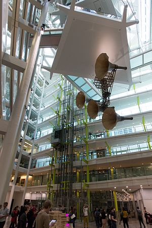 Conrad Shawcross - Space Trumpet in Unilever House, London