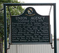 Union Agency, Historical Sign.JPG