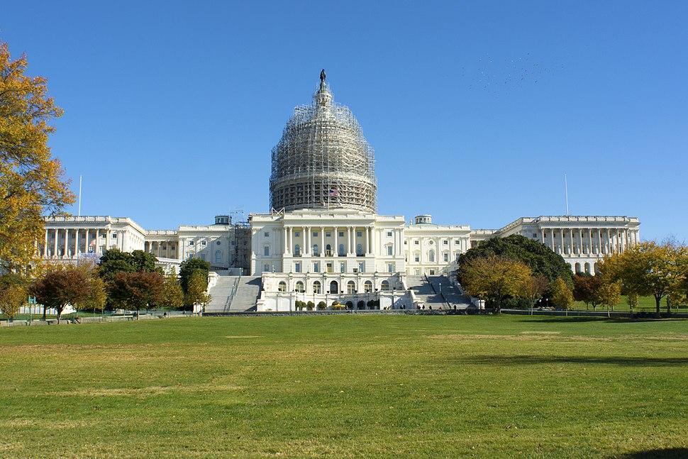 United States Capitol building under renovation November 2014 photo D Ramey Logan
