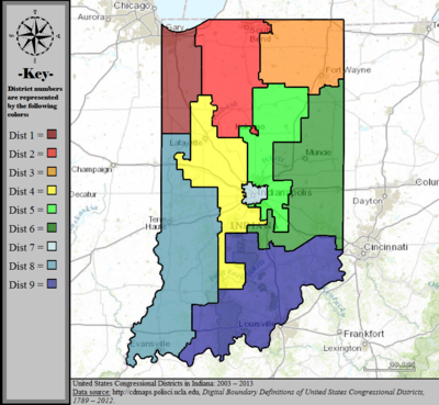 United States Congressional Districts in Indiana, 2003 – 2013.tif