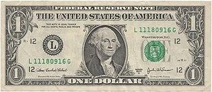 Banconota da un dollaro statunitense