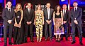 University of Salford Fashion students design work presented in a catwalk show at Hotel Football, attended by Gary & Phil Neville, Ryan Giggs, Nicky Butt, Paul Scholes (Class of 92) during the Salford City FC 75th Anniversary Dinner.jpg