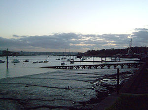 River Medway - Dusk at Lower Upnor on the Medway Estuary
