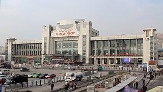 Ürümqi South railway station Railway station in China