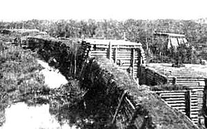 Christmas Battles - German fortification German Wall across the Tirelis swamp.