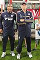 Valais Cup 2013 - OM-FC Porto 13-07-2013 - Franck Passi et Elie Baup.jpg