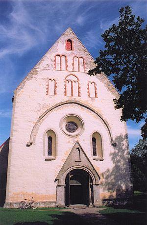 Valjala Church - The west façade.