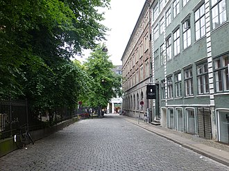 Valkendorfsgade - Valkendorfsgade: The last section of the street with the House of the Holy Ghost located on the left