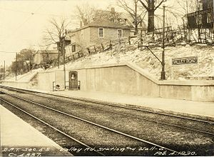 Valley Road (MBTA station) - Valley Road station in February 1930