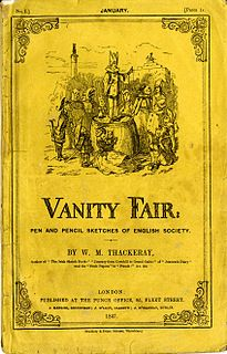 <i>Vanity Fair</i> (novel) 1848 novel by William Makepeace Thackeray