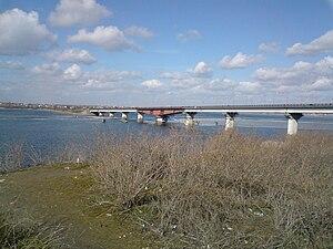 Southern Bug - Varvarivskyi Bridge in Mykolayiv.