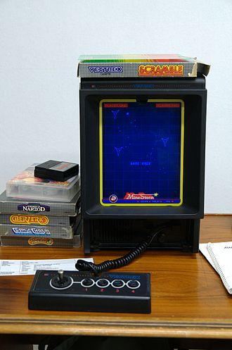 Page orientation - A Vectrex games console, with its portrait screen