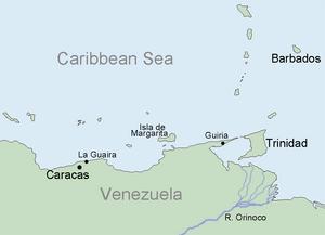 Geography of Barbados - Image: Venezuela JS