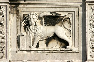 Lion of Saint Mark - The Lion of St Mark in Venice.