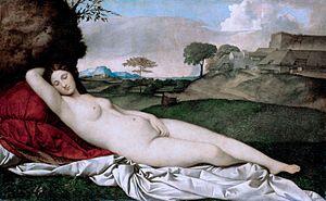 Джорджоне. Спящая Венера.