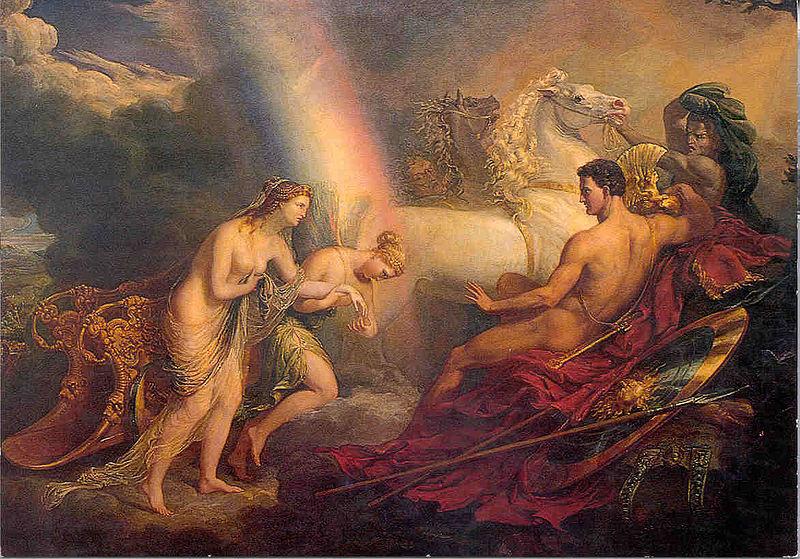 Файл: Венера поддерживается Ирис, жалуясь на Марс 1820.jpg