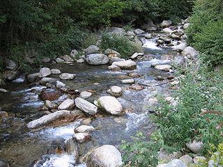 Vésubie river in France