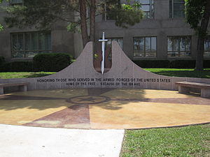 Burnet County, Texas - Veterans Memorial at Burnet County courthouse