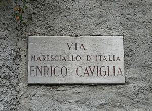 Enrico Caviglia - Via Enrico Caviglia in Finale Ligure.