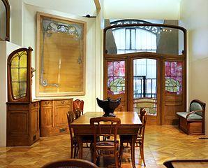 Victor horta, boiserie e mobilio dell'hotel aubecq a bruxelles, 1902-04, 06