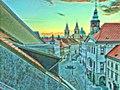 Vid Gajsek-Stresni pogled z Mestnega trga ob soncnem vzhodu.jpg