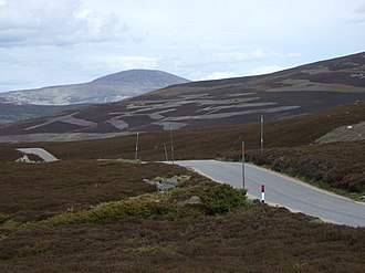 Aberdeenshire - The B976 road near Gairnshiel