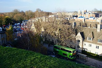 New Road, Oxford - View of New Road from the Oxford Castle mound