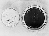 View of silicon disc to be left on moon by Apollo 11 astronauts.jpg