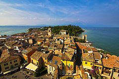 View to Sirmione city from the city tower.jpg