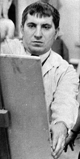 Virgil Cantini - Virgil Cantini instructing a class at the University of Pittsburgh during the 1956-57 school year