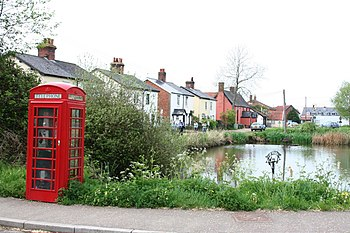 English: Village Pond and phone box