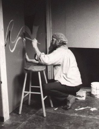 Vivian Stanshall - Stanshall painting the doors into the hold of The Thekla