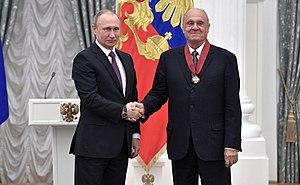 "Vladimir Menshov - President Vladimir Putin awards the 2nd Degree Order ""For Merit to the Fatherland"" to Menshov, 24 May, 2017"