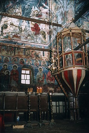Moscopole - Murals of St. Nicholas church, painted by David Selenica.