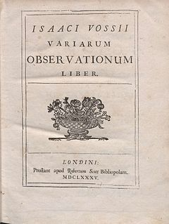 Isaac Vossius