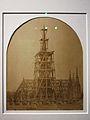 Vue (du côté nord) de la charpente de la Sainte-Chapelle lors de la reconstruction de la flèche (Charles Marville).jpg