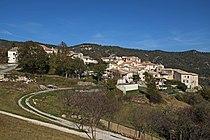 Vue du village de Sallagriffon juste en-dessous de la route de la Vignasse.JPG