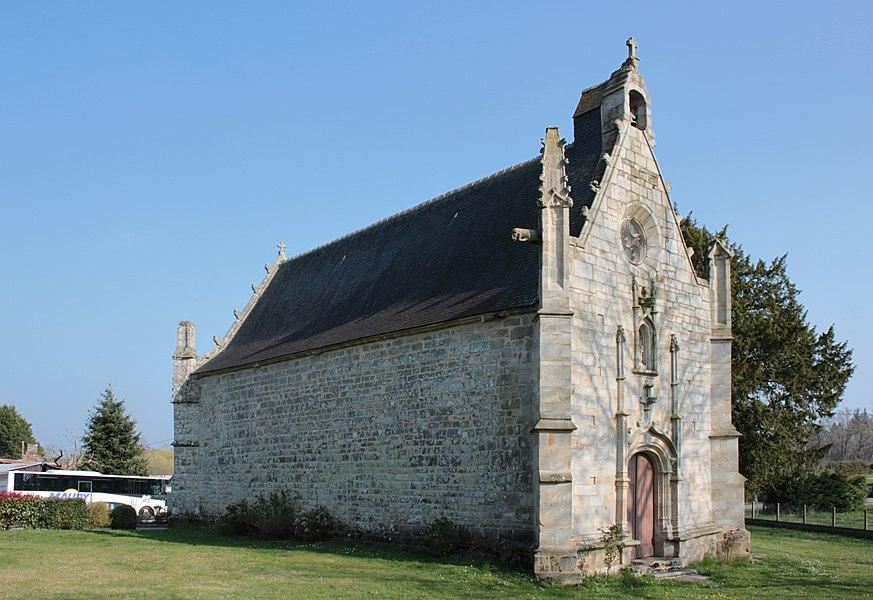 Chapelle Sainte-Anne (XVI° siècle), vue sud-ouest, Fr-56-Saint-Dolay.