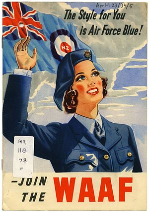 New Zealand Women's Auxiliary Air Force - Cover of recruitment booklet.