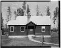 WEST FRONT - Buffalo Guard Station, Residence, U.S. Highway 20-191 at Buffalo River, Island Park, Fremont County, ID HABS ID,22-ILPA,2D-1.tif
