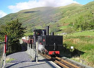 Tasmanian Government Railways K class - K1 at Snowdon Ranger station on the Welsh Highland Railway in October 2007