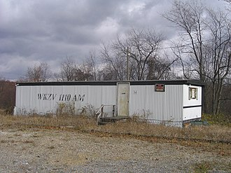 WKZV - WKZV's transmitter building and original studio location until the 1980s on Whitetail Drive