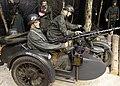 WW2 IN NORWAY Occupying German Army Wehrmacht Uniforms Helmets Raincoats BMW R75 Military motorcycle Sidecar Beiwagen MG 34 machine gun Feldgendarmerie Equipment Weapons Forest scene Mannequins ARQUEBUS Krigshistoriske Museum Tysvær D.jpg