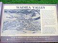Waimea Valley Sign at Puʻu o Mahuka Heiau State Monument (8584340012).jpg