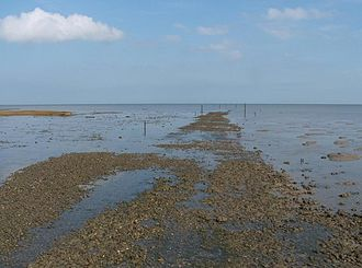 The Broomway - The headway at Wakering Stairs, the current southerly starting point of the Broomway